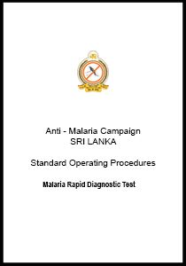 RDT | Standard Operating Procedures | Antimalaria Campaign of Sri Lanka