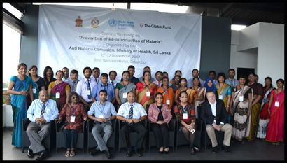 Training Workshop on Malaria Elimination and POR